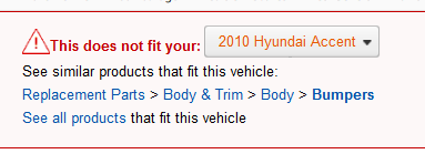 """""""This does not fit your 2010 Hyundai Accent"""""""
